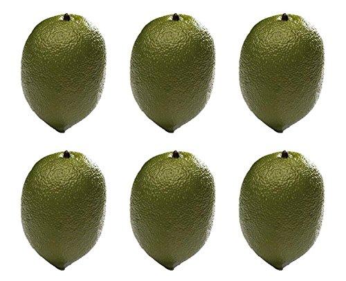 APS 04104 de chaux décorative, Ø 6 cm, H: 8 cm, EPS, aliments décoratifs verts impropres à la consommation, 6 pièces dans un sac