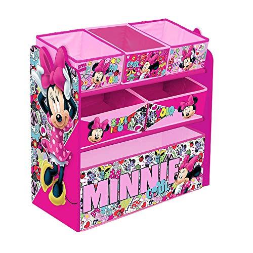 Rosa di stoccaggio di giocattolo in legno per bambini disney minnie mouse