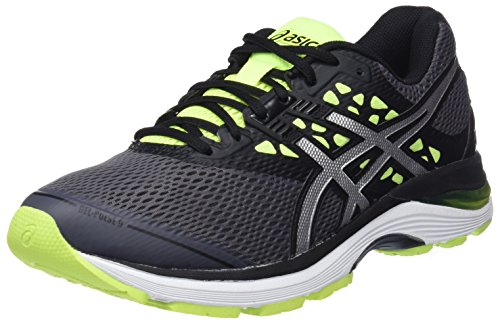 Asics Gel-Pulse 9, Scarpe da Running Uomo, Grigio (Carbon/Silver/Safety Yellow), 44 EU