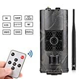 SUNTEKCAM 3G Wild Cámara Foto Trampa 16 MP 1080P Full HD Cámara De Caza 120 ° Amplio Vision INFR arote 20 m visión Nocturna Impermeable IP65 Vigilancia con 2.4 LCD Pantalla