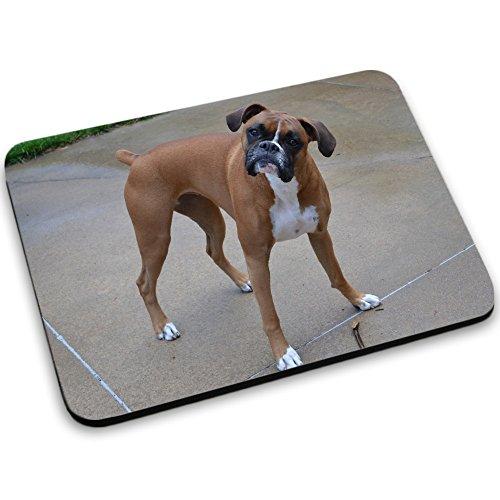 Hunde 10046, Boxer, Mousepad Anti Rutsch Unterseite für Optimalen Halt Kompatibel mit allen Maustypen (Kugel, Optisch, Laser) Ideal für Gamer und für Grafikdesigner. (Kuh Boxer)