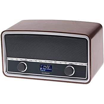 goodmans gsr1889dabbtw heritage retro radio with bluetooth wood finish tv. Black Bedroom Furniture Sets. Home Design Ideas