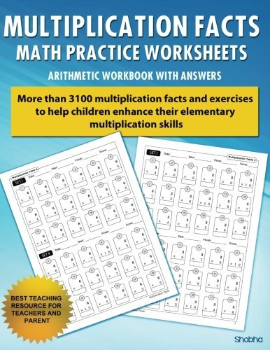 Multiplication Facts Math Worksheet Practice Arithmetic Workbook With Answers: Daily Practice guide for elementary students by Shobha (2016-04-07)