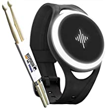 Soundbrenner Pulse mobiles Vibrations-Metronom + KEEPDRUM Drumsticks 1 Paar