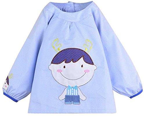 per-bambini-impermeabile-bavaglino-alimentazione-arte-pittura-grembiule-overclothes-vesture-a-manich