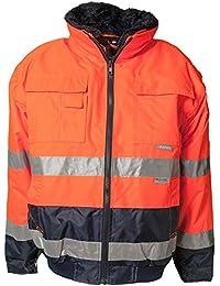 Planam Comfort-Jacke Warnschutz, Größe 8XL, orange / marine, 2046084