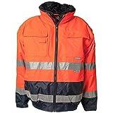 Planam Comfort-Jacke Warnschutz, Größe XL, orange/marine, 2046056