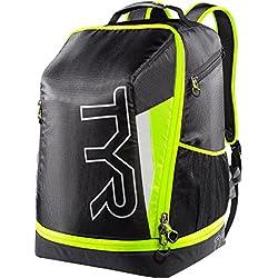 TYR Apex - Mochila Bolsa de triatlón, Unisex, Negro/Amarillo
