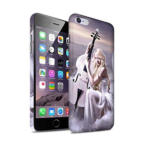 Officiel Elena Dudina Coque / Clipser Matte Etui pour Apple iPhone 6S+/Plus / Mélodie du Silence Design / Réconfort Musique Collection Violoncelle/Nuages