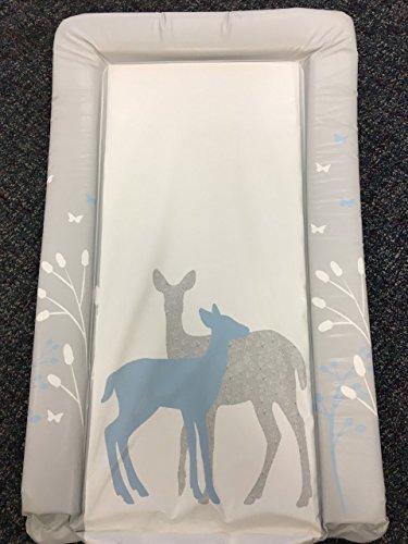 Preisvergleich Produktbild Deluxe Unisex Baby wasserdicht Wickelunterlage mit Rand-Einzigartiges Design Blau Forest Deer