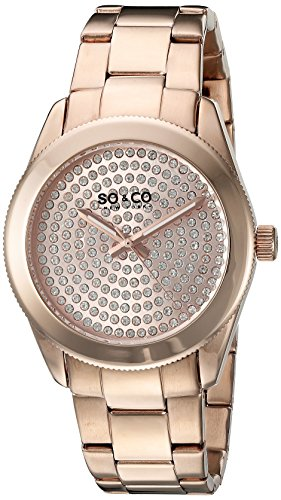 So & Co New York - Orologio da polso, Donna, Analogico, cinturino acciaio inossidabile colore: oro rosa.