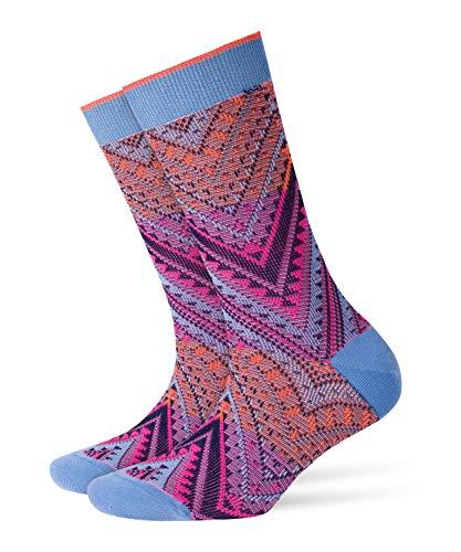 Burlington Damen Socken Indian Summer Mehrfarbig (Azure 6327) 36/41 (Herstellergröße: 36-41)