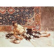 "Impresión artística / Póster: Mariano Fortuny ""The opium smoker"" - Impresión de alta calidad, foto, póster artístico, 100x75 cm"