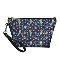 Coloranimal Cute Corgi Mermaid Pattern Trapezoid Toiletry Bag for Outdoor Traveling