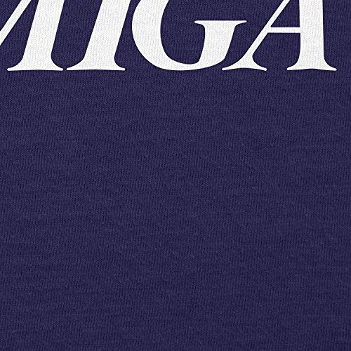 TEXLAB - Classic Amiga - Herren Langarm T-Shirt Navy