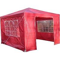 AirWave - Gazebo de exterior, color rojo