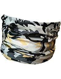 Multifunction Neckwarmer, Snood, Hat, Scarf and Hood with a Snow Leopard face print by Monogram