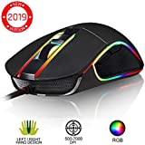 KLIM™ AIM Souris Gamer - Souris de Jeu Chroma RGB USB Filaire - 500-7000 DPI - Boutons Programmables - Confortable pour Toute Taille de Main - Ambidextre Excellent Grip - Gaming PC PS4 Xbox One - Noir