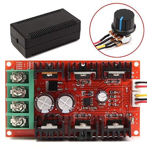 Dasd1asd12 Entwicklungs-Board-Modul, 9-50 V 40 A DC Motor Drehzahlregelung PWM HHO RC Controller 12 V 24 V 48 V 2000 W MAX