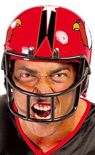 Kostüm Helm Football Roter - shoperama American Football Helm für Damen und Herren GUI Erwachsene Sport, Farbe:Rot