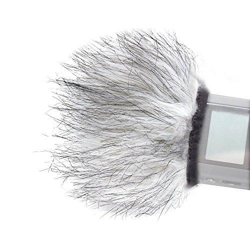 Paravento per microfono Movo WS9 con pelliccia per esterni, per registratori digitali portatili fino a 3' X 1.5' (Larg. x Diam.) - Adatto a Zoom H4n, H5, H6, Tascam DR-40, DR-05, DR-07 & registratori simili