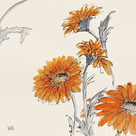 Orange Gerbera I par Paschke, CHRIS – Fine Art Print Disponible sur
