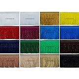 e-kurzwaren 1m/5m/25m Fransenborte 4cm/6cm/11cm Breite Farbvielfalt Dekoration Fransen Vorhang Posamentenborte Deko