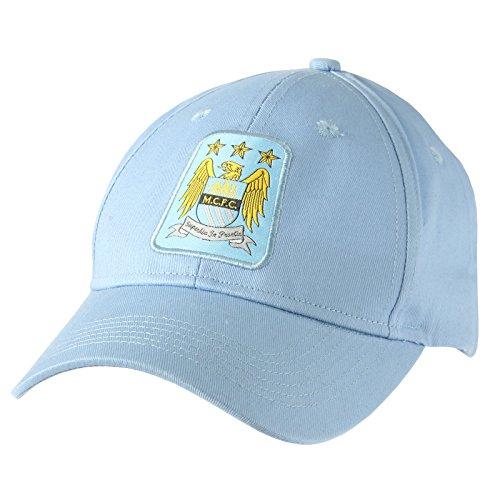 Gorra oficial del Manchester City FC Unisex – Futbol/ Inglaterra/ Champion league (Talla Única/Azul cielo)