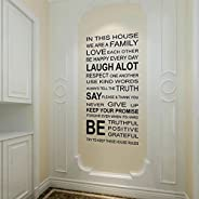 IN THIS HOUSE English DIY wall stickers home decor living room sofa wall decals home decoration