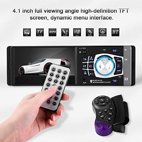 oll HD Acouto Auto Stereo Bluetooth Audioempfänger MP5 Video Player FM-Radio AUX TF USB-Mikrofon Freisprechanrufe Lenkung Fernbedienung Rad Fernbedienung ()