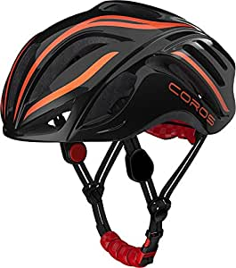COROS LINX SMART CONNECTED BLUETOOTH HELMET IN BLACK AND ORANGE WITH BONE CONDUCTION TECHNOLOGY (Medium)