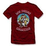 shirtground Los Pollos Hermanos T-Shirt Bordeaux-Maroon L