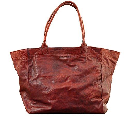 MON PARTENAIRE M Marron huilé cabas en cuir sac à main style vintage PAUL MARIUS