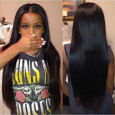 Yun jiayy–parrucca di capelli lunghi, lisci e bruns 66cm (26