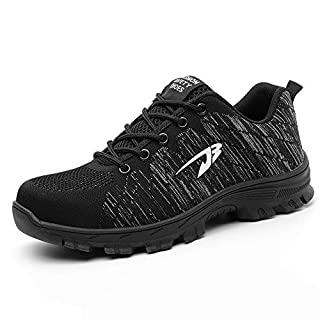 Chaussure de Sécurité Homme Femme Chaussures de Travail en Acier Toe léger Respirant Anti-crevaison Chaussures de Protection Outdoor Hiking Trekking Casual Sneakers