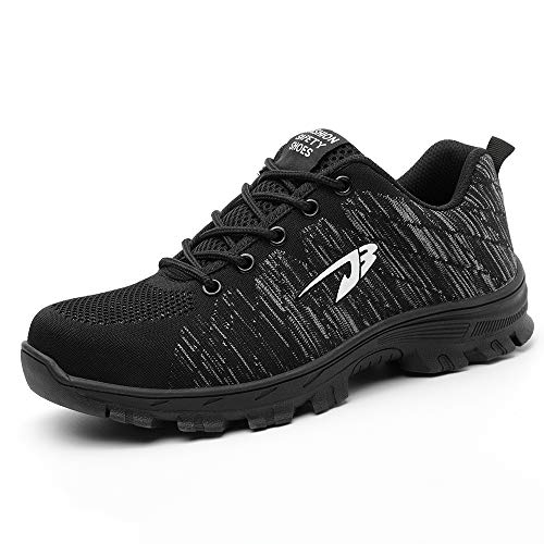 Safety Shoes Men Women Work Shoes Steel Toe Lightweight Breathable Puncture Proof Protective Shoes,Outdoor Hiking Trekking Casual Sneakers