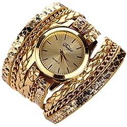 Sunnywill Frauen Luxus Schöne Mode Herz Anhänger-Uhren für Frauen Mädchen Damen