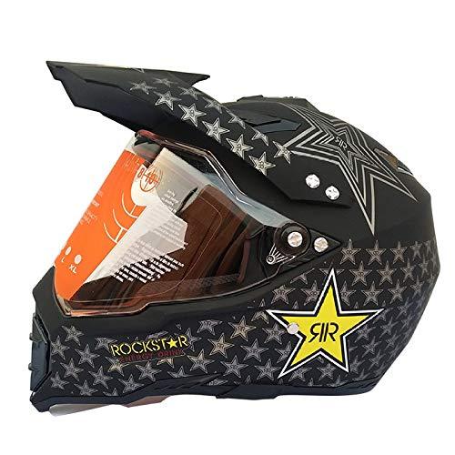 Casco Da Moto Fuoristrada Casco Da Motociclista Flip-up Per Lenti Anti-UV Per Adulti,J-S
