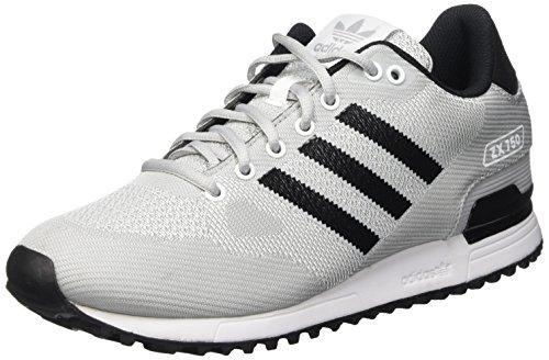 Adidas Zx 750 Wv Scarpe Low-Top, Uomo, Blanco / Negro / Gris (Ftwbla / Negbas / Onicla), 41 1/3