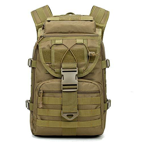 Sqb i fan militari 40 sport borsa a tracolla all'aperto, uomini e donne zaini leggeri, per il tempo libero camuffamento camping escursionismo borsa pacchetti tattici, wolf brown, circa 40l