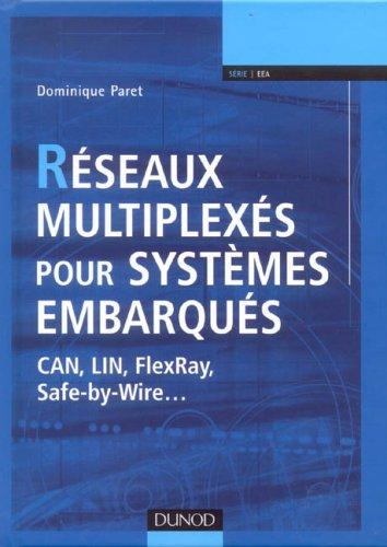 Réseaux multiplexés pour systèmes embarqués : CAN, LIN, FlexRay, Safe-by-Wire.