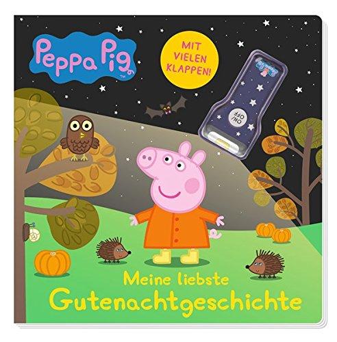 Peppa Pig: Meine liebste Gutenachtgeschichte: Pappbilderbuch mit Klappen und Taschenlampe (Pig Nacht)