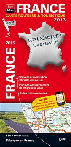 France : 1/1 000 000, 100% plastifié
