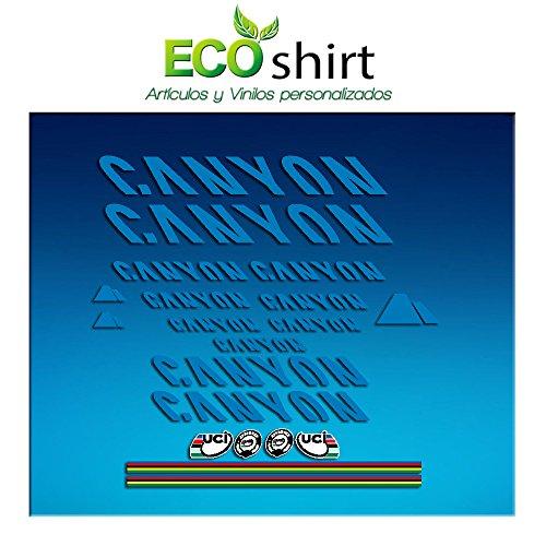 Ecoshirt 1R-NPQH-1LS1 Aufkleber Sticker Canyon Bike Aufkleber Decals Autocollants Adesivi Frame