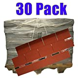30er Pack Dachschindeln Rechteck Rot 30x 3 m² = 90 m²