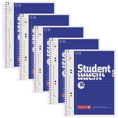 5 BRUNNEN Collegeblöcke Student A5 liniert