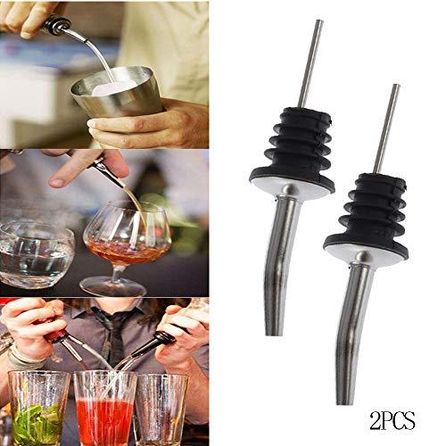 Gaddrt Bottiglia di Vino versatore dosatore in Acciaio Inox Olio Sughero Barman Vino Accessori Vino Bocca 113 * 29mm(2pcs)
