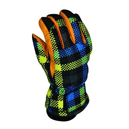 leoie Mädchen und Jungen Ski Handschuhe wasserdicht winddicht warme Handschuhe Winter Outdoor Sport Snowboard Polyester Faser Skifahren...