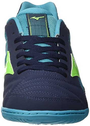 Mizuno Sala Club In, Chaussures de Football Homme Bleu (Dressbluesgreengeckopeacokblue)