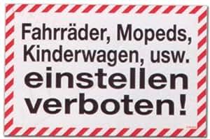 Plaque signalétique-vélos les cyclomoteurs poussette, etc réglage interdite scooter-vélo enfant plaque plaque symptômes annonciateurs de porte pour porte de sécurité au travail plastique öffnungszeiten